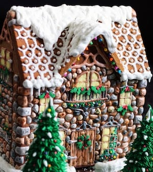 Stone Gingerbread House