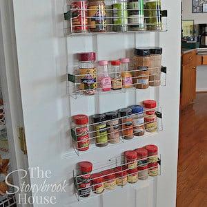 DIY Spice Rack for pantry door
