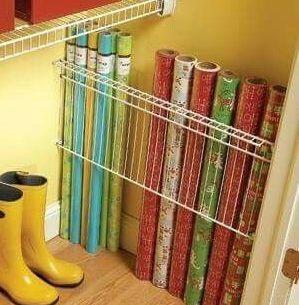 Ventilated Shelving Gift Wrap Organization