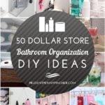 50 Dollar Store Bathroom Organization Ideas