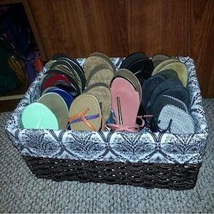 Flip Flop Basket Organization