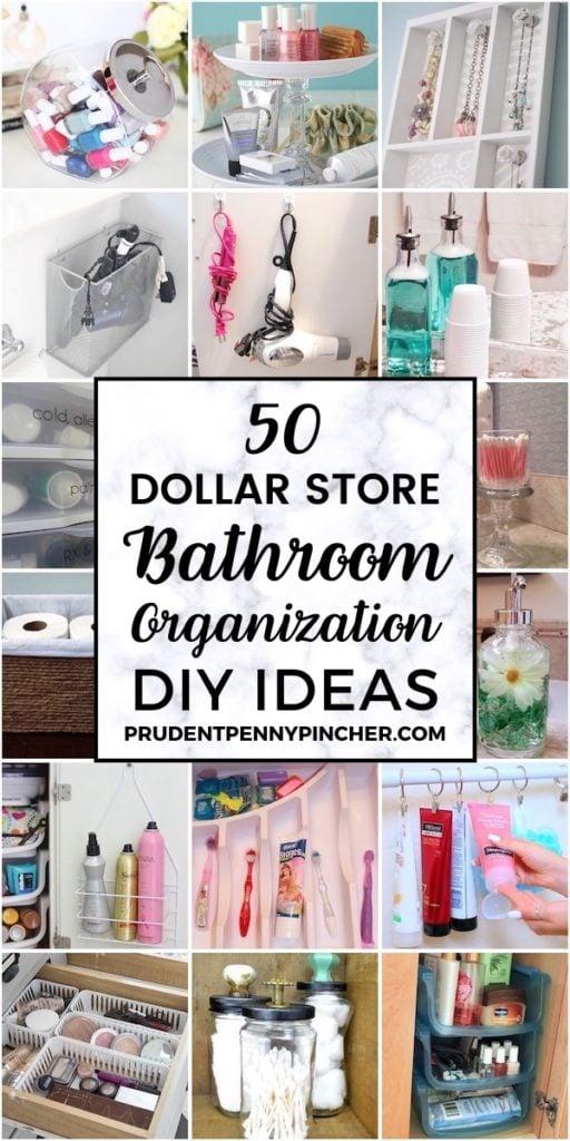 50 DIY Dollar Store Bathroom Organization Ideas