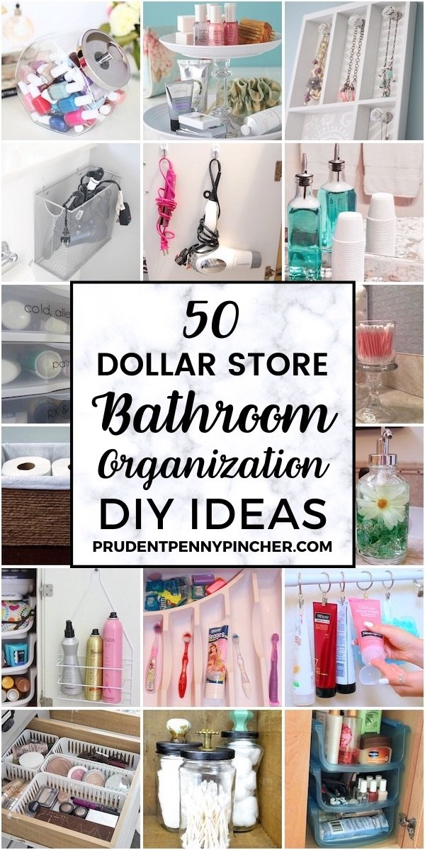 50 DIY Dollar Store Bathroom Organization Ideas