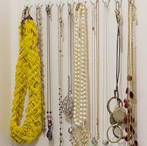 Closet Jewelry Organization