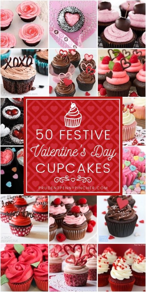 50 Festive Valentine's Day Cupcakes