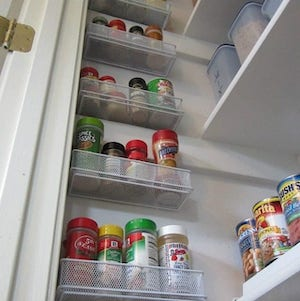 Spice Storage for pantry closet