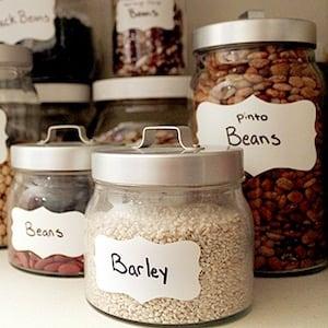 Dollar Store Jar Pantry Organization