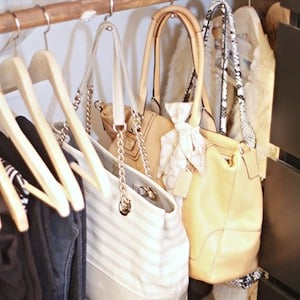 Hanging handbags