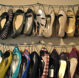DIY Shoe Hanger Organization