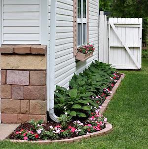 Side of House Flower Garden