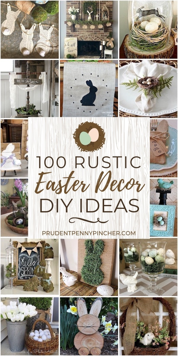 100 Diy Rustic Easter Decorations Prudent Penny Pincher