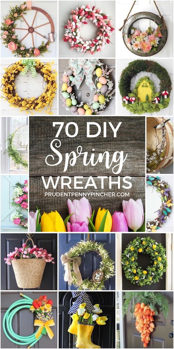 70 DIY Spring Wreaths
