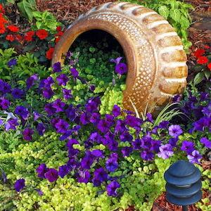 Tipped Over Flower Pot Garden