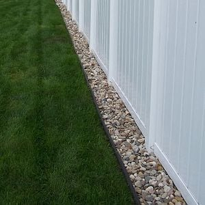 Pebble Border Along Fence