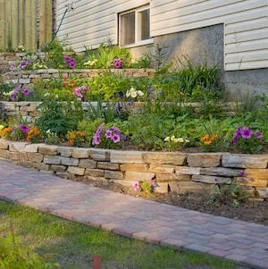 Backyard Tiered Landscaping idea