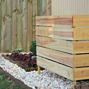 Wooden Screen for air conditioner