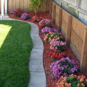 Flower Bed Backyard Landscaping