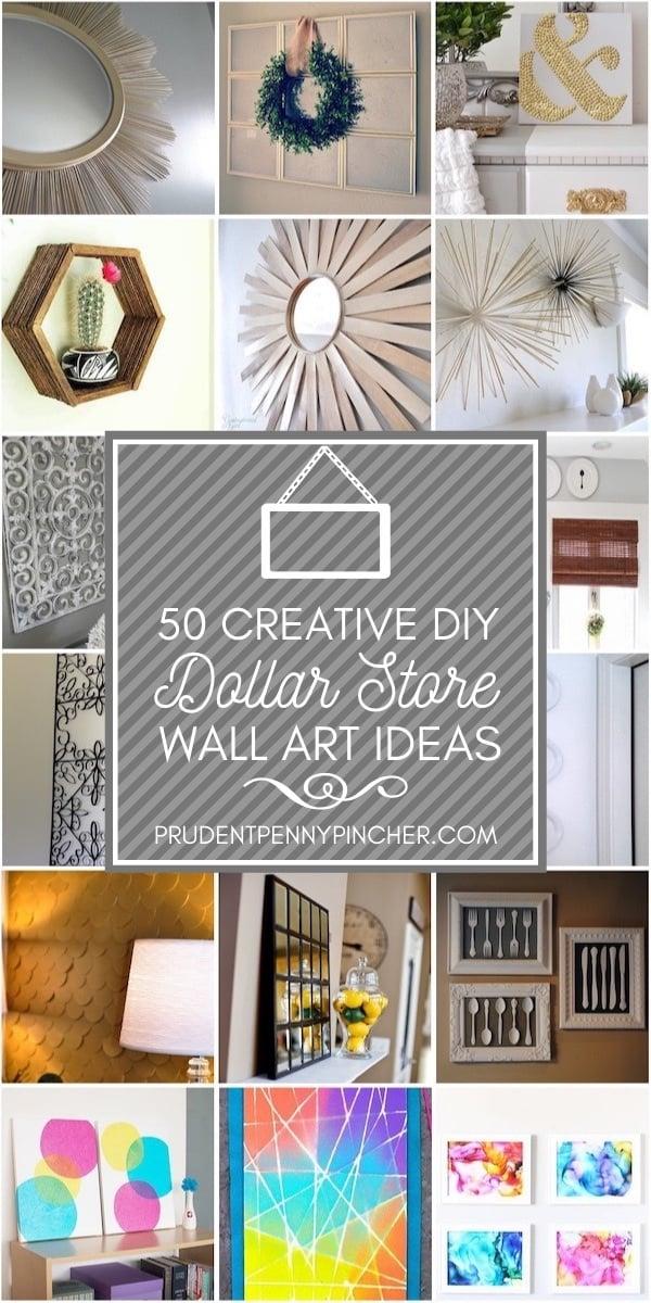 50 Creative Dollar Store Diy Wall Art Ideas Prudent Penny