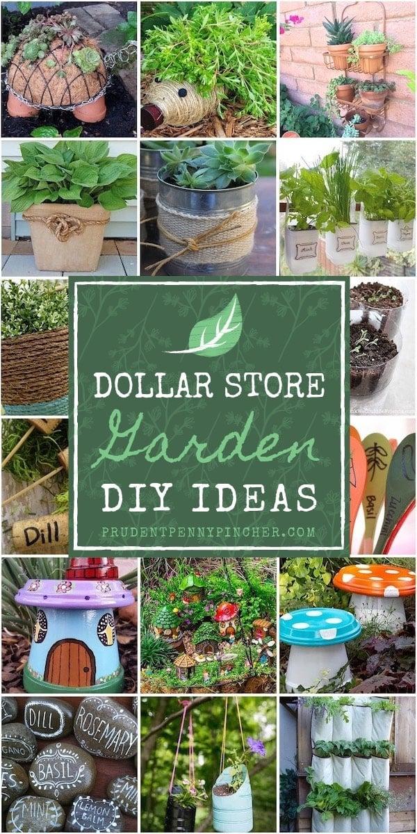 100 Dollar Store Garden Diy Ideas Prudent Penny Pincher