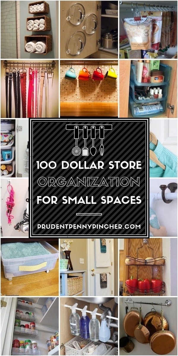 100 Dollar Store Organization Ideas for Small Spaces