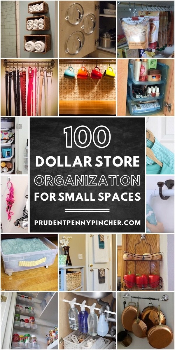 100 Dollar Store Organization Ideas For Small Spaces Prudent Penny Pincher