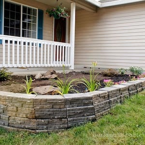 Retaining Wall in front of porch