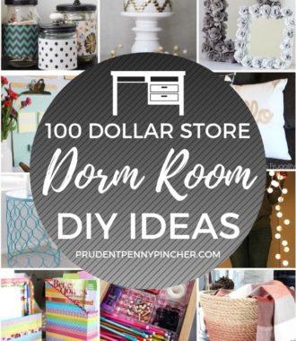 100 DIY Dollar Store Dorm Room Ideas