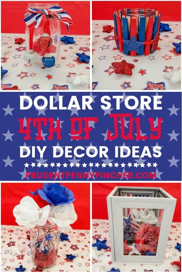 Dollar Store 4th of July Decor DIY Ideas