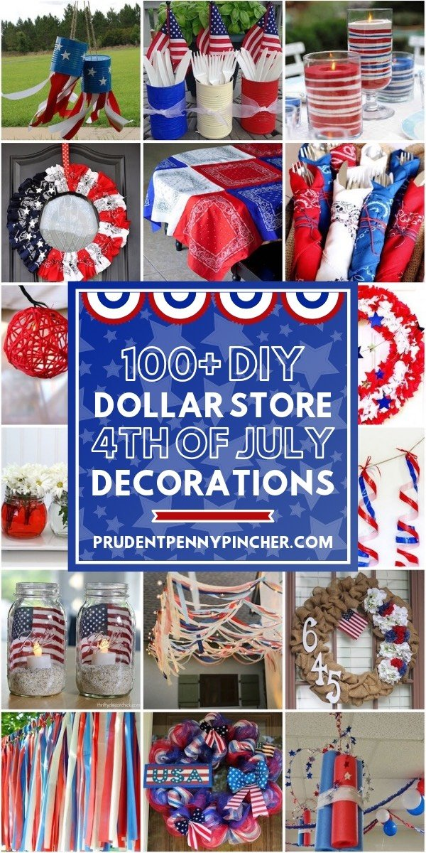 diy dollar store 4th of July decorations collage