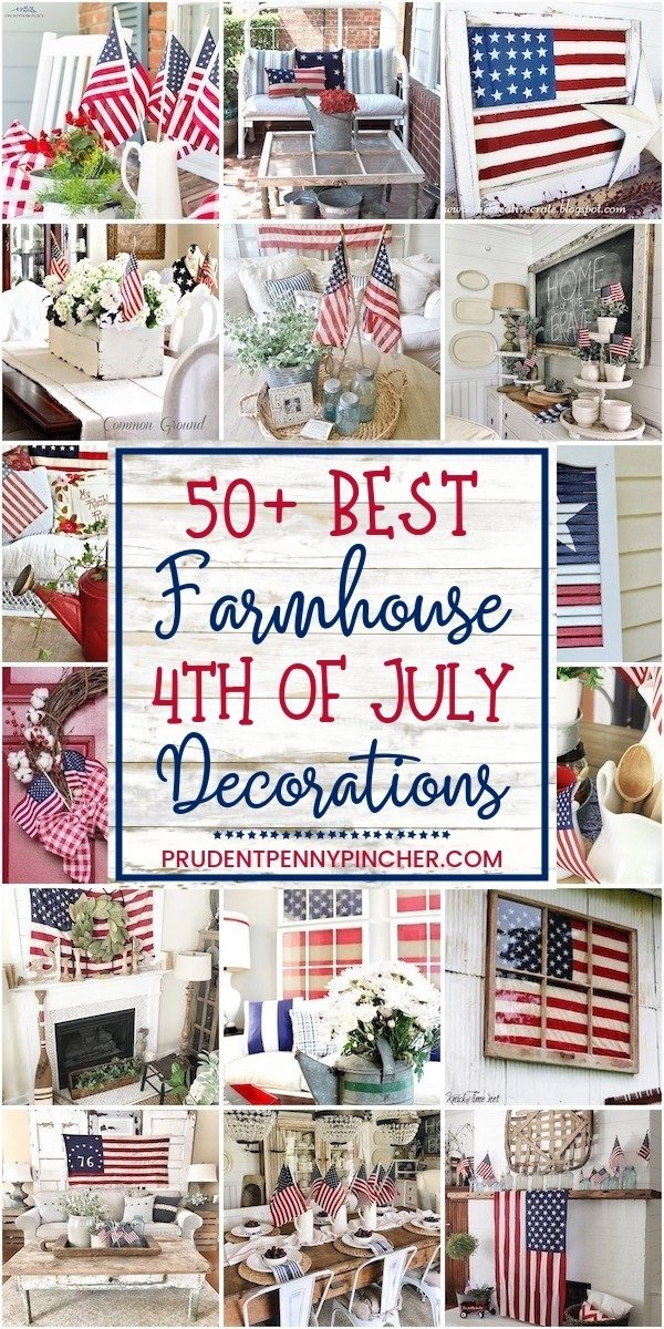 50 Farmhouse 4th of July Decorations