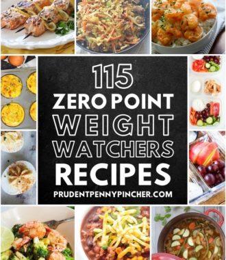 115 Zero Point Weight Watchers Recipes