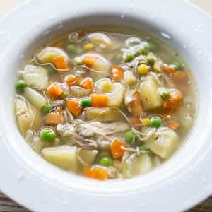 slow cooker Fall Apart Chicken and Vegetable Soup
