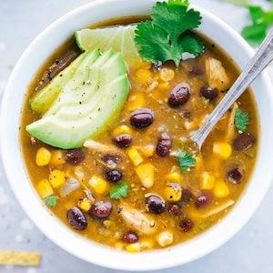 Salsa Verde Chicken Soup