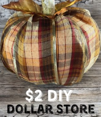 $2 DIY Dollar Store Pumpkin