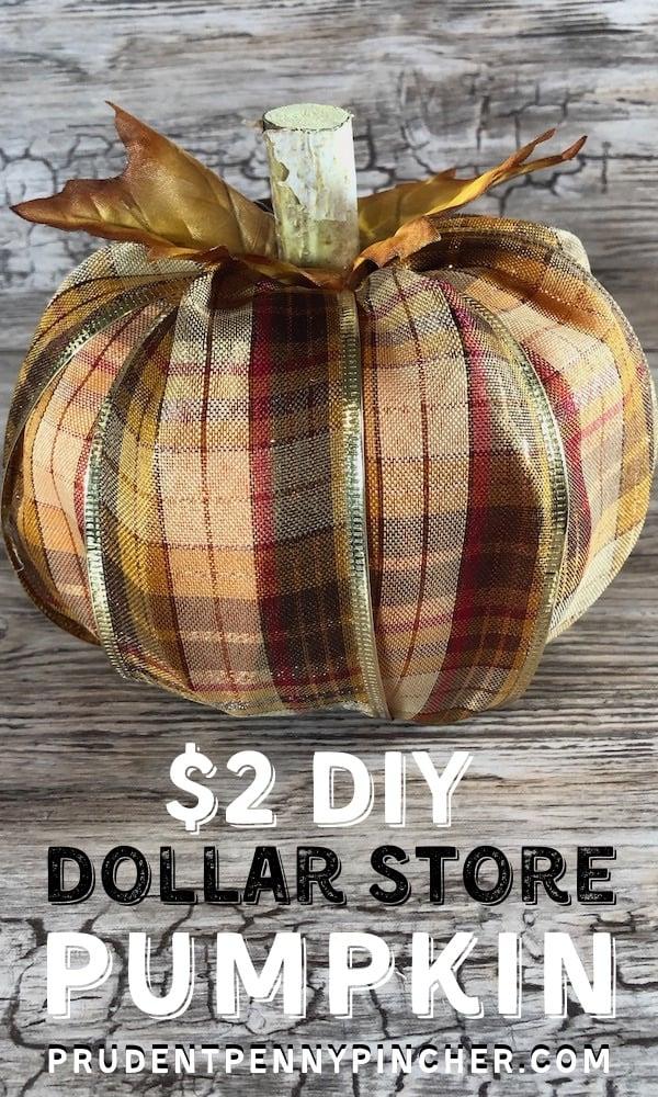 $2 DIY Dollar Store Fall Pumpkin