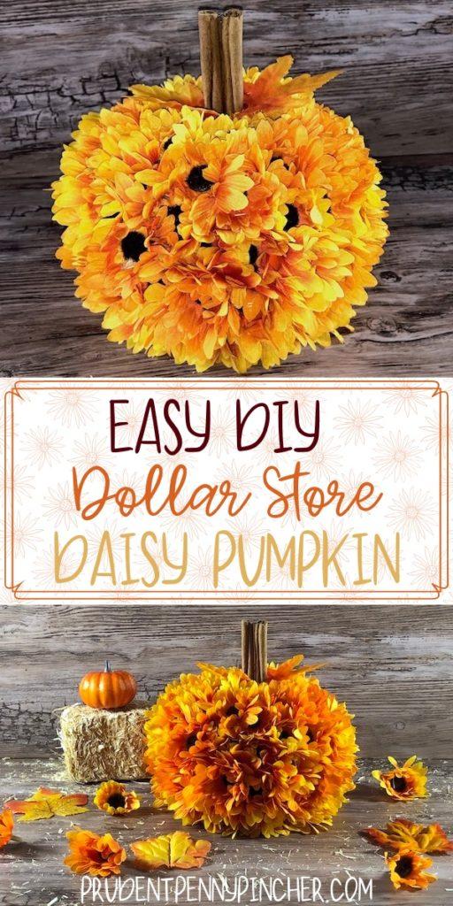 Easy DIY Dollar Store Daisy Pumpkin