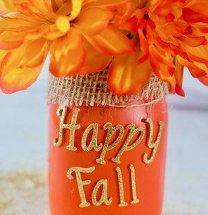 Happy Fall Jar