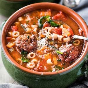 crockpot Italian Meatball Soup recipe