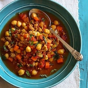 Moroccan Chickpea and Turkey Stew