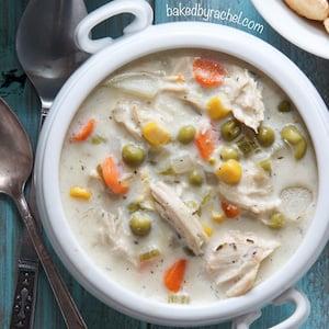 creamy Chicken Pie Soup recipe