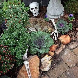 Partially Buried Skeleton Halloween Yard Decoration