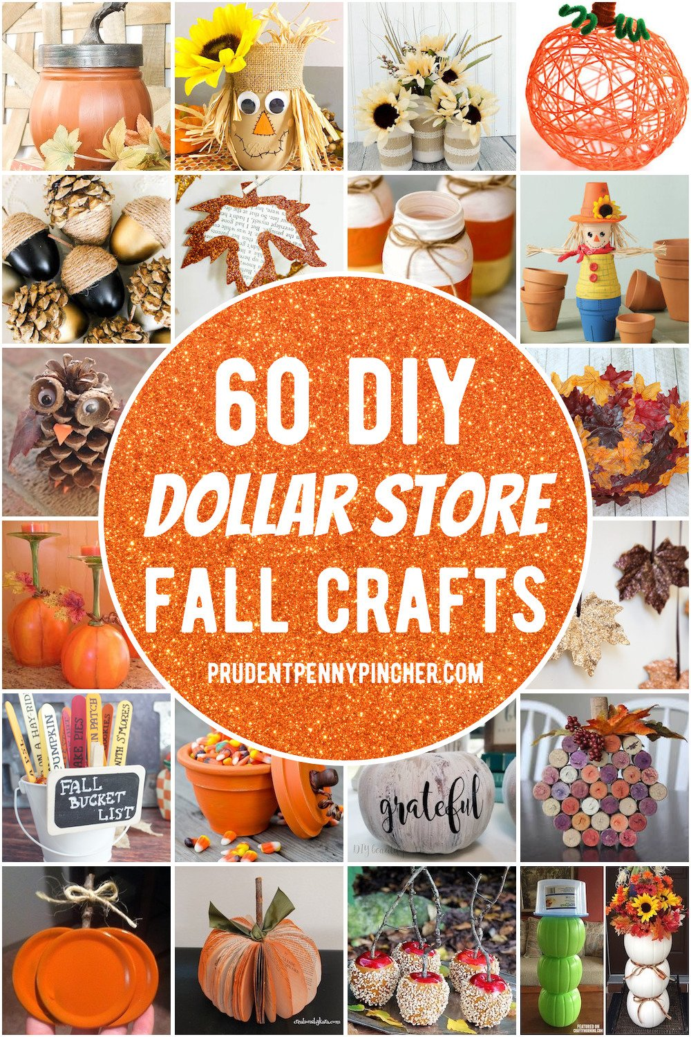 20 Dollar Store Fall Crafts   Prudent Penny Pincher