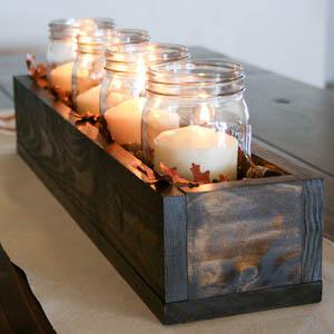 DIY Fall Mason Jar Centerpiece