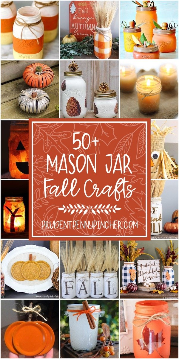 50 Mason Jar Fall Crafts