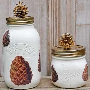 Pine Cone Jar
