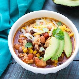 crockpot Easy Chicken Taco Soup recipe