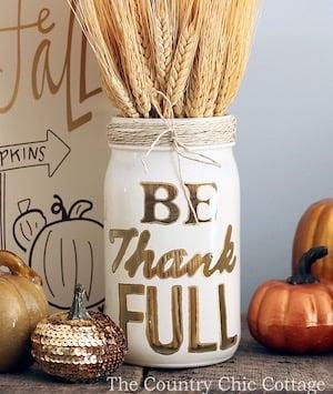 Be Thankful Jar