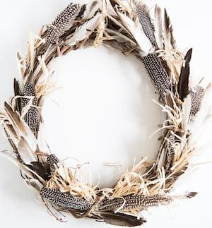 DIY Feather Wreath