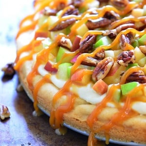 Caramel Apple Fruit Pizza Fall Appetizer