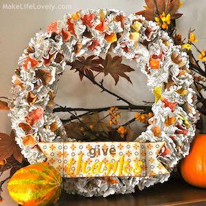 Easy DIY Thanksgiving Wreath